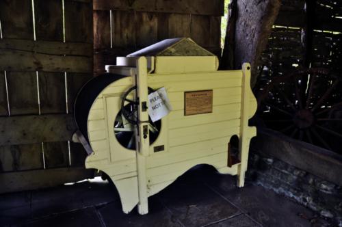 Winnower in the threshing barn - Avoncroft Museum, Bromsgrove, Worcestershire, UK 2019