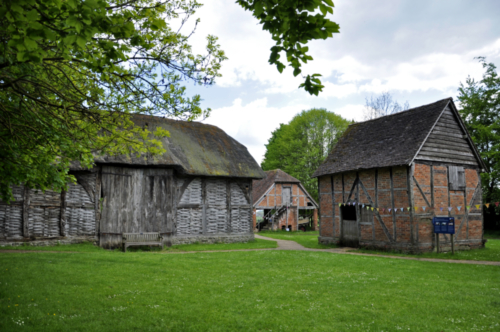 Threshing barn and stable - Avoncroft Museum, Bromsgrove, Worcestershire, UK 2019