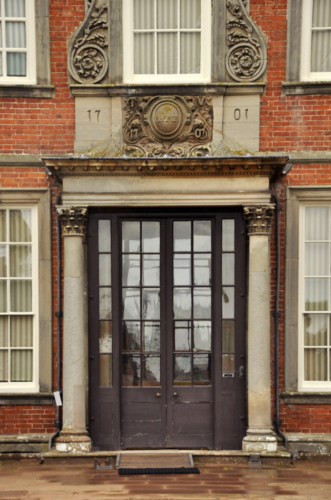 Main entrance to Hanbury Hall, Worcestershire, UK 2020