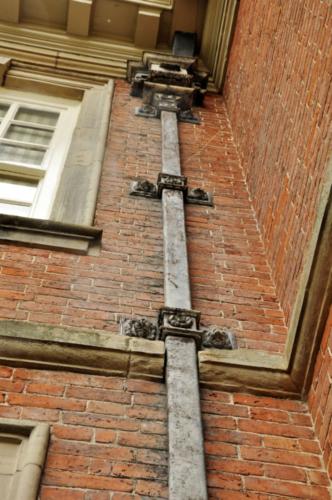Decorative gutter - Hanbury Hall, Worcestershire, UK 2020