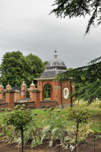 The Formal Vegetable Garden and Gazebo - Hanbury Hall, Worcestershire, UK 2020