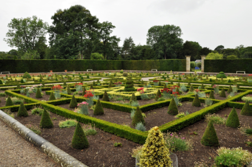 The Sunken Parterre - Hanbury Hall, Worcestershire, UK 2020