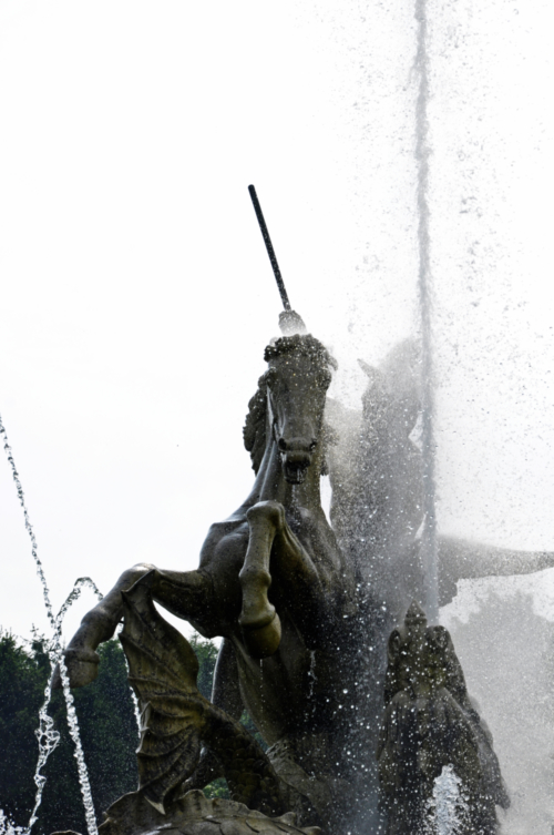 The Perseus and Andromeda fountain, Witley Court and Gardens, Worcestershire, UK 2018