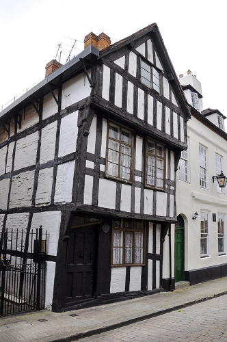 Crooked house, Fish Street, - Worcester, Worcestershire, UK 2018