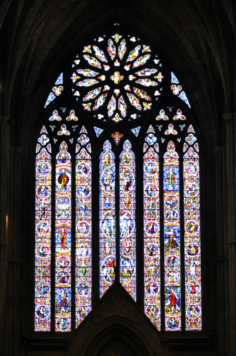 Stained Glass in Worcester Cathedral, Worcestershire, UK 2018