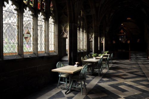 Cloisters, Worcester Cathedral, Worcestershire, UK 2018