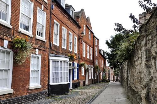 College Precincts, Worcester, Worcestershire, UK 2018